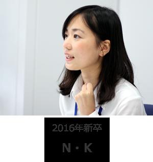 2016年新卒 N・K (以下 N)